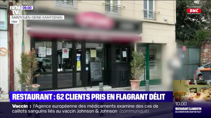 Restaurants clandestins : des avocats et chefs d'entreprise arrêtés à Saint-Ouen