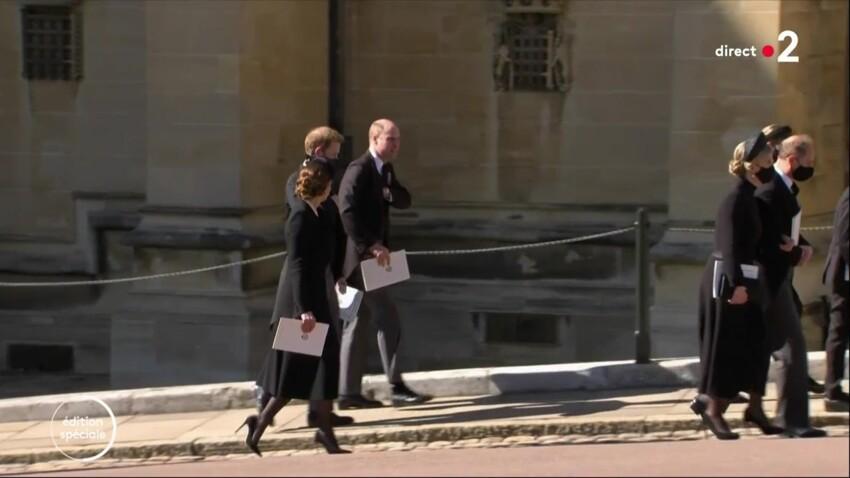Obsèques du prince Philip : les images émouvantes de William, Kate Middleton et Harry réunis