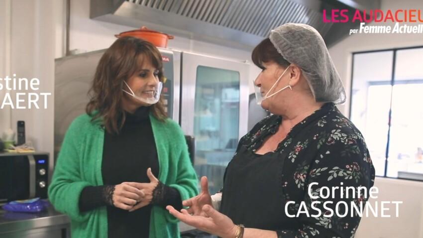 """""""Les Audacieuses"""" : Faustine Bollaert rencontre Corinne Cassonnet, reconvertie dans la restauration après un licenciement - VIDÉO"""
