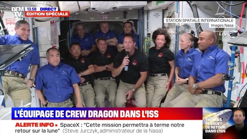 Thomas Pesquet : ses premiers mots après son entrée dans la station spatiale internationale