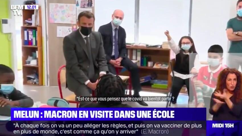 Covid-19 : Emmanuel Macron questionné sur le couvre-feu… par une écolière !