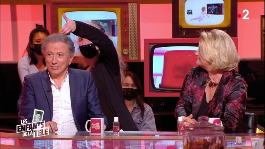 """VIDEO """"Les enfants de la télé"""" : Michel Drucker attaqué en pleine émission par une guêpe"""
