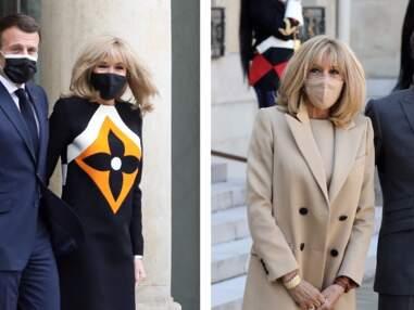 Brigitte Macron, toujours élégante : elle associe ses masques de protection à ses tenues