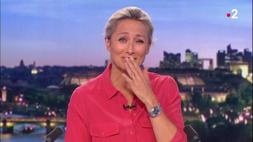 VIDEO - Anne-Sophie Lapix : son drôle de fou rire en plein 20h de France 2