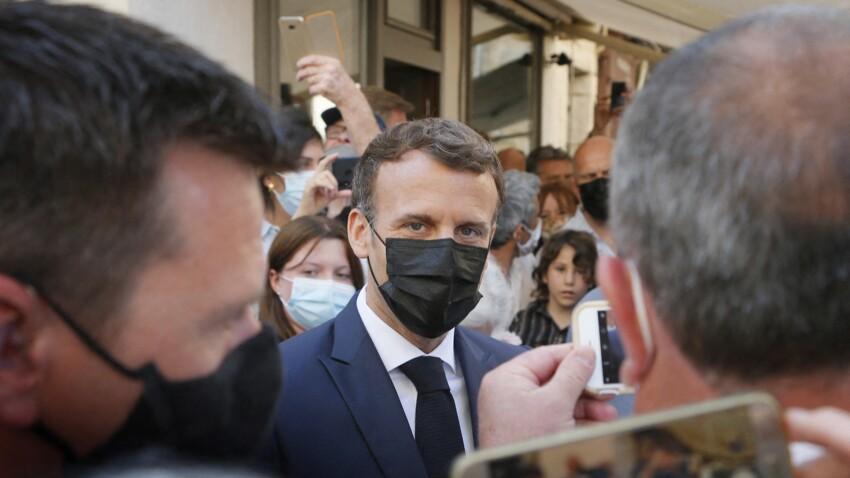"""""""Vous êtes gonflé !"""" : Emmanuel Macron, son échange musclé avec un homme qui critique son bilan"""