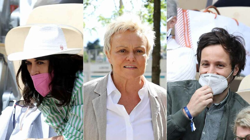 PHOTOS - Nolwenn Leroy, Muriel Robin, Vianney... les stars s'affichent en couple au tournoi de Roland-Garros 2021