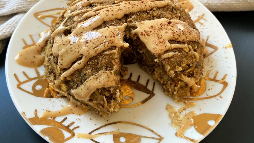 Bowl cake banane cacahuète et flocons d'avoine