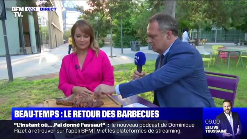 Christophe Delay et Adeline François désertent le plateau de BFMTV pour un barbecue de bon matin
