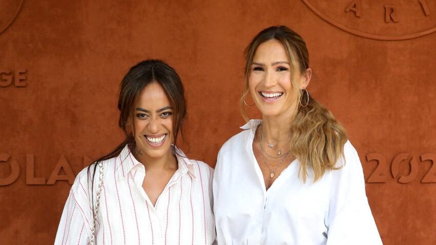 PHOTOS - Amel Bent et Vitaa complices et hilares à Roland-Garros