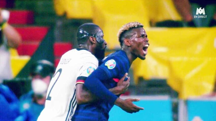 """""""Euro 2021"""" : Paul Pogba mordu par un joueur allemand en plein match, les internautes choqués"""