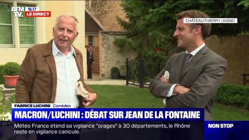 Emmanuel Macron et Fabrice Luchini improvisent un surprenant débat