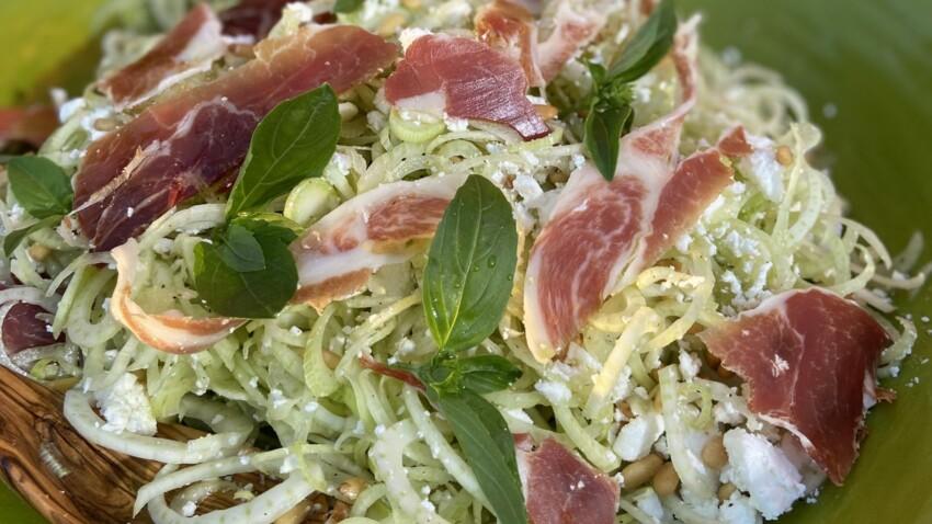 La recette légère de la salade de fenouil au jambon de Laurent Mariotte