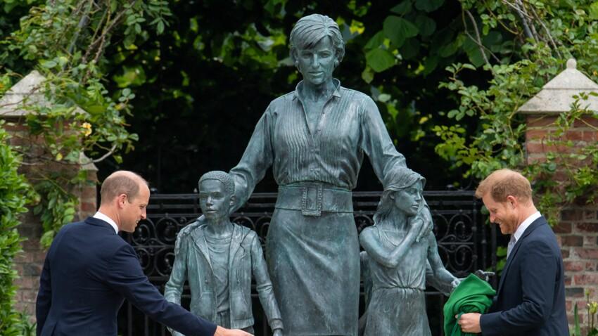 Diana : sa nouvelle statue, dévoilée par Harry et William, ne fait pas l'unanimité