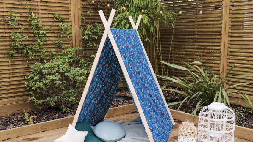 Bricolage : construire un tipi pour enfants