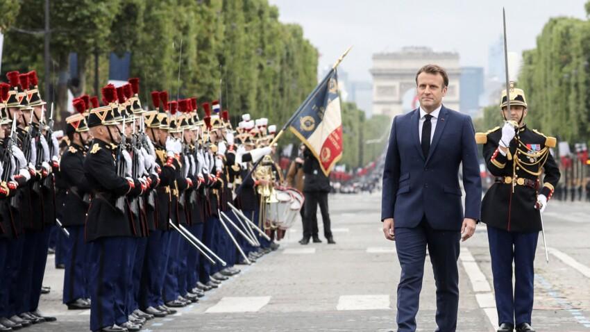 Défilé du 14 juillet : un jeune soldat demande sa compagne en mariage, Emmanuel Macron les félicite