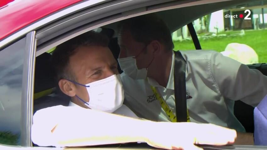 Emmanuel Macron : en visite sur le Tour de France, le Président chante en patois - VIDEO
