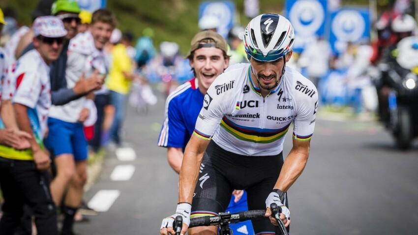 """Tour de France 2021 : """"J'ai tant souffert"""", confie Julian Alaphilippe, qui termine la course """"exténué"""""""