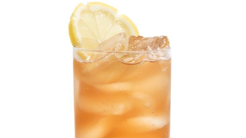 Thé glacé pétillant citron gingembre