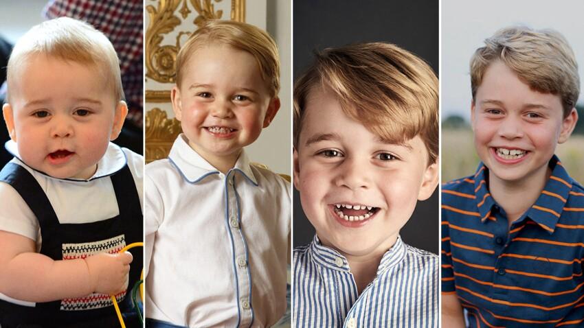 PHOTOS - Le prince George fête ses 8 ans : retour en images sur son évolution physique