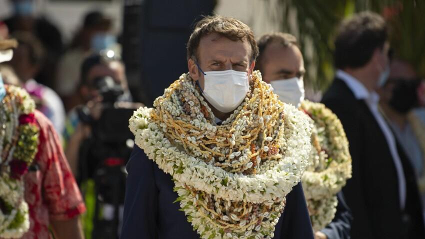 VIDEO - Emmanuel Macron recouvert de colliers de fleurs en Polynésie : une parodie fait le tour du monde