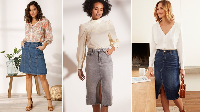 Bien porter la jupe en jean après 50 ans