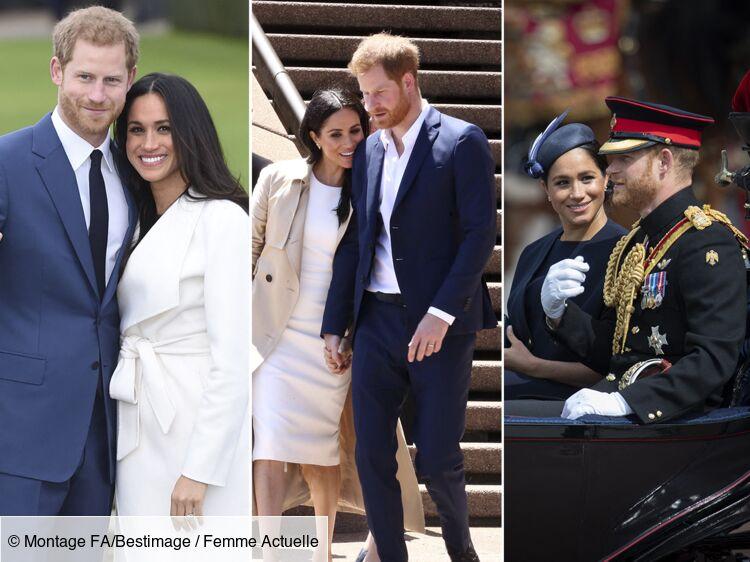 PHOTOS - Meghan Markle : retour en images sur sa belle histoire d'amour avec le prince Harry