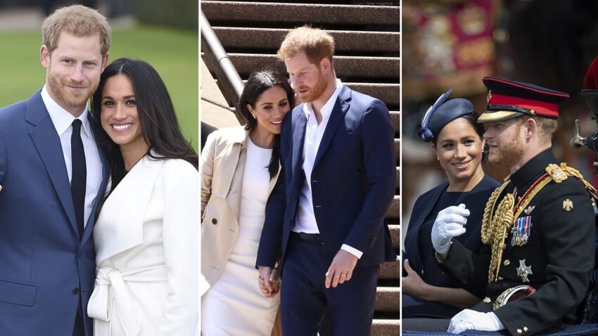 PHOTOS  -  40 ans de Meghan Markle : retour en images sur sa belle histoire d'amour avec le prince Harry