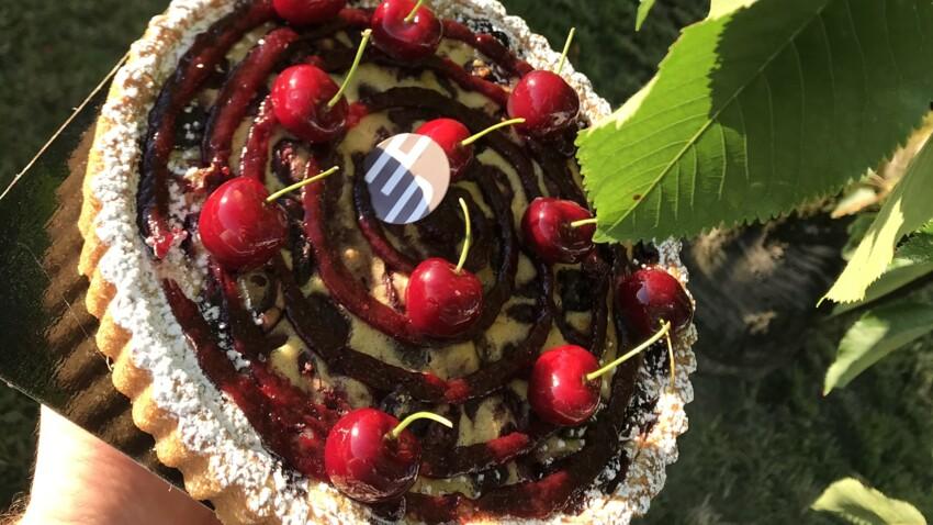 Le Meilleur Pâtissier, les Professionnels : la recette revisitée du clafoutis aux cerises sur sablé basque