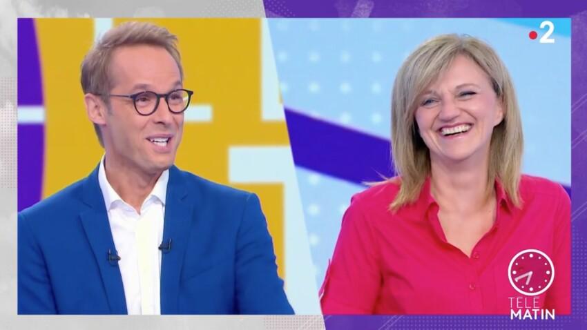 """VIDEO - """"Télématin"""" : Damien Thévenot et Valérie Maurice pris d'un fou rire, le présentateur en larmes"""