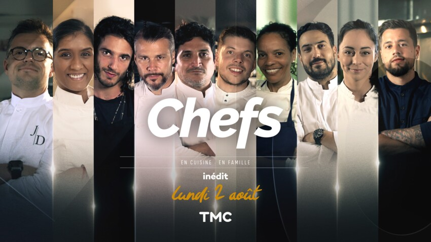 """""""Chefs, en cuisine, en famille"""" : qui sont les 10 candidats de la nouvelle émission de cuisine de TMC ?"""