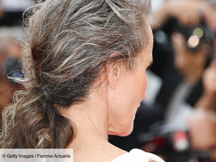 Cette actrice de 63 ans assume ses cheveux blancs contre l'avis de son agent (voici pourquoi)