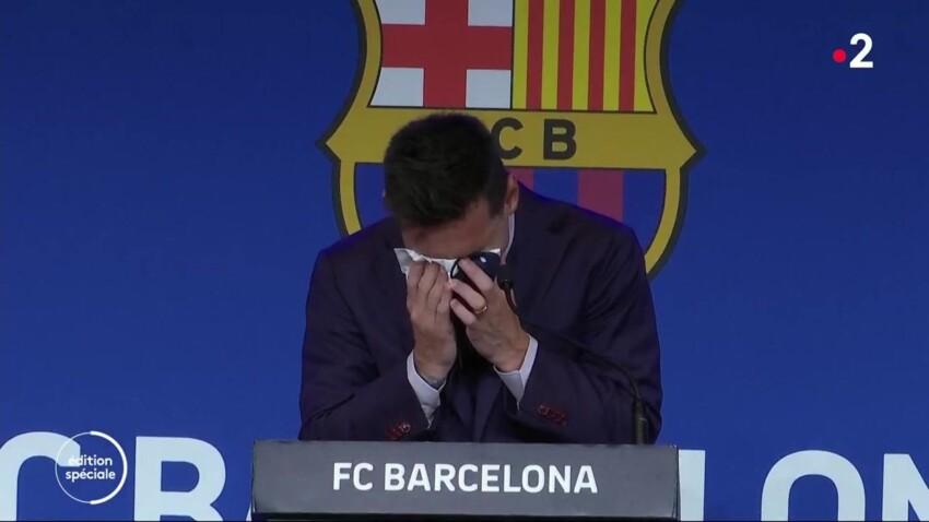 Lionel Messi en larmes : il fait ses adieux au FC Barcelone, les internautes émus