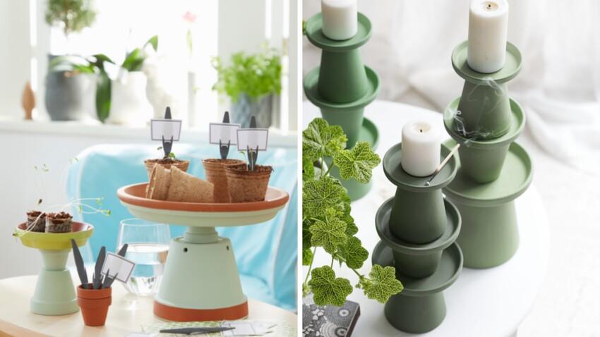 DIY : 3 idées déco faciles avec des pots en terre cuite