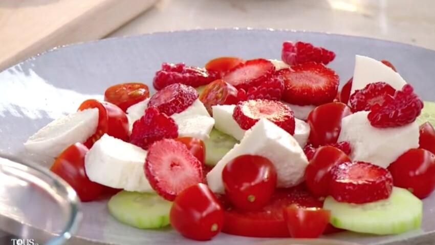 """""""Tous en cuisine"""" : la recette de la salade tomate-mozza de Cyril Lignac"""