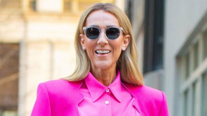 Céline Dion sublime : décolleté jusqu'au nombril, nue sous sa veste