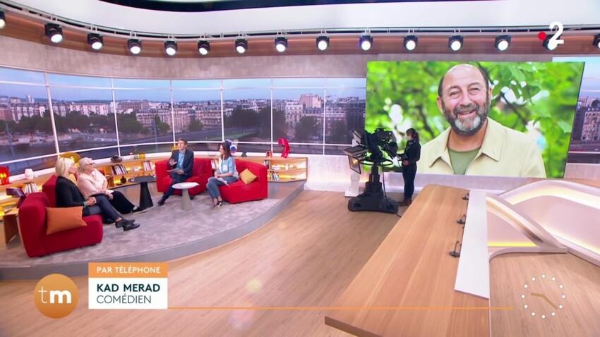 """Kad Merad taquine en direct sa compagne Julia Vignali à l'antenne de """"Télématin"""""""