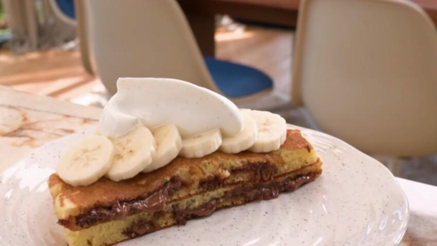 """""""Tous en cuisine"""" : la recette des pancakes au chocolat et à la banane de Cyril Lignac"""