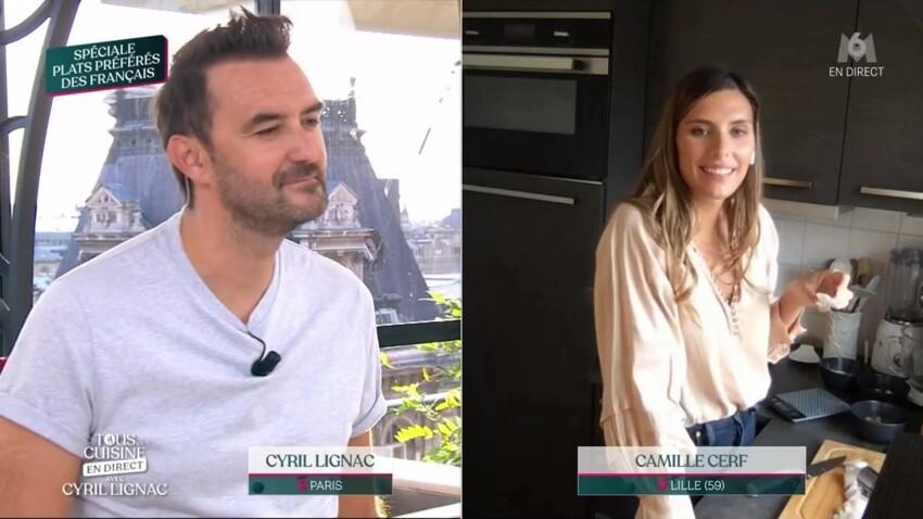 """""""Tous en cuisine"""" : Cyril Lignac très mal à l'aise après une question de Camille Cerf sur sa fiancée"""
