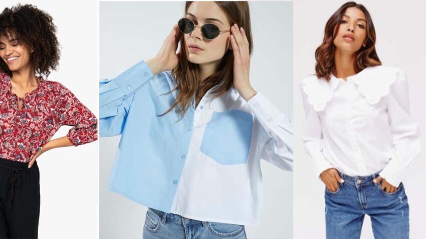 Blouses et chemises automne-hiver 2021-2022 : top des nouveautés stylées à moins de 30 euros