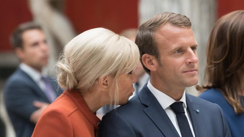 Emmanuel Macron très tactile avec son épouse Brigitte : les photos de leurs étreintes
