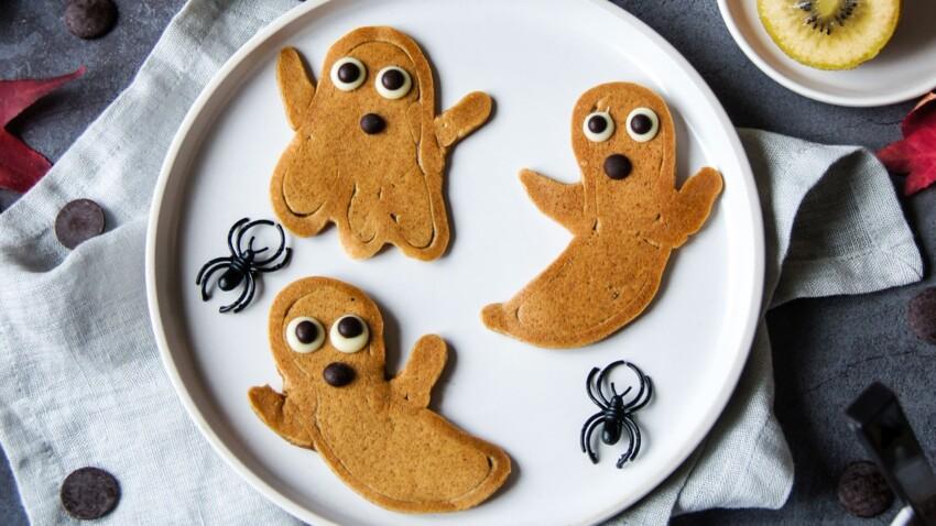 La recette effrayante des pancakes fantômes d'Halloween