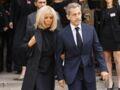 Messe pour Bernard Tapie : Brigitte Macron et Nicolas Sarkozy complices lors de l'hommage - PHOTOS