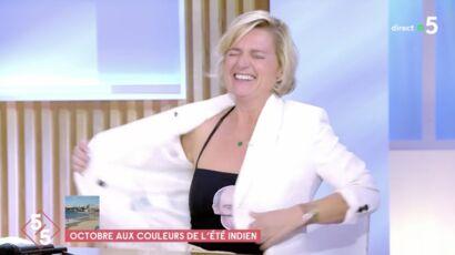 """Anne-Elisabeth Lemoine se déshabille dans """"C à vous"""", les chroniqueurs stupéfaits - VIDÉO"""