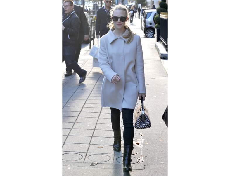 Amanda Seyfried : le sac preppy