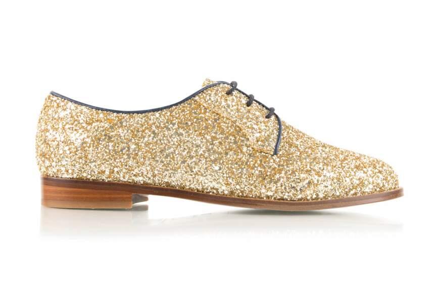 Chaussure de fêtes : la plus dorée