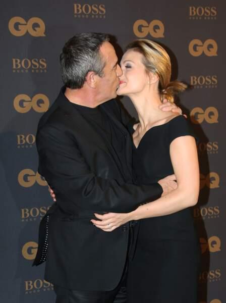 Thierry Ardisson et Audrey Crespo-Mara inséparables lors de la cérémonie des Hommes de l'année de GQ (2015)