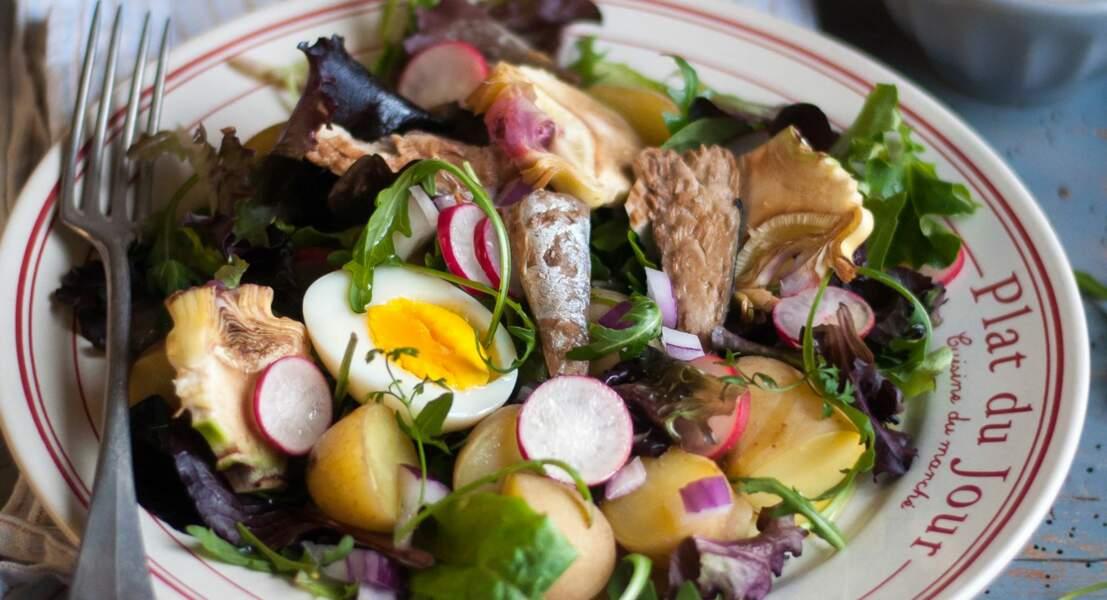 Salade-repas bretonne
