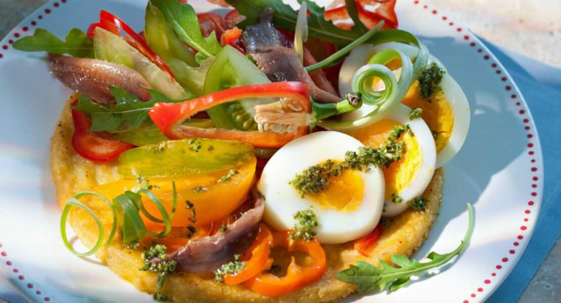 La socca et ses petits légumes