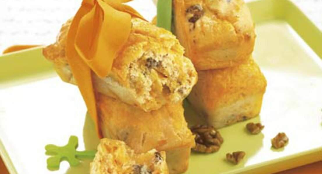 Cake au Boursin, à la mimolette et aux noix