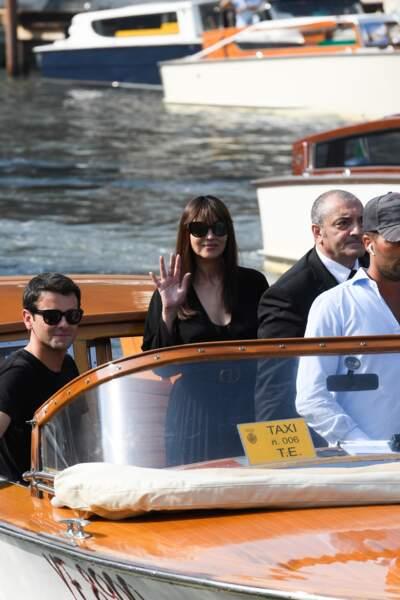 Monica Bellucci est arrivée à Venise ce jeudi 29 août.